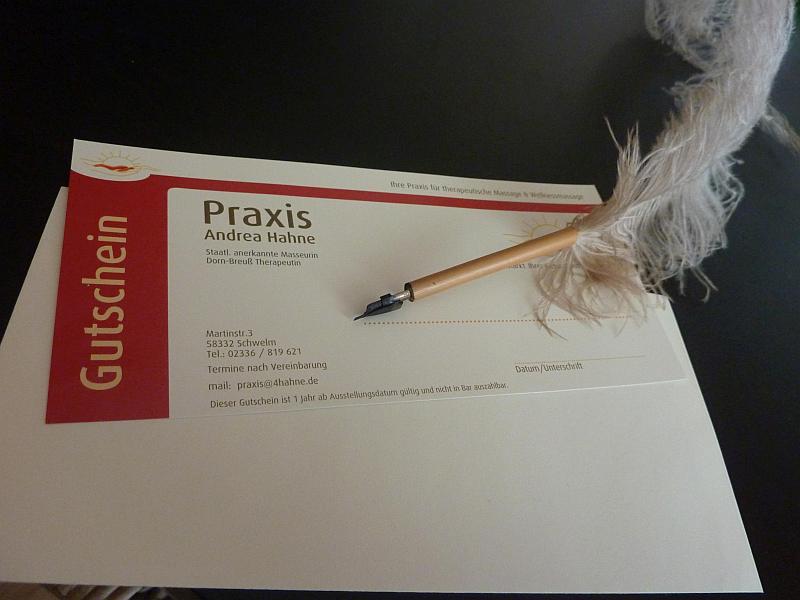 Praxis Andrea Hahne - Gutschein